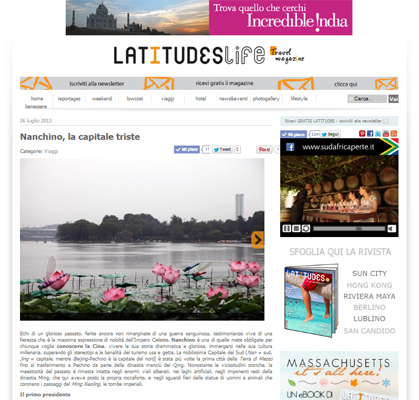 """Nanchino, la capitale triste"", LatitudesLife"
