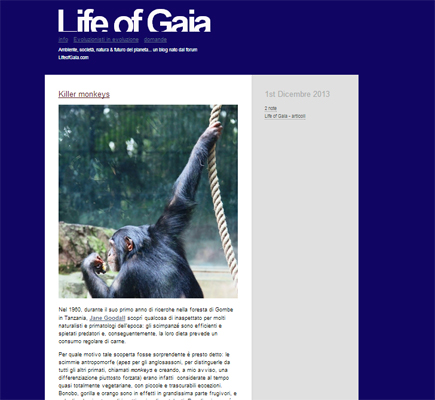 Life of Gaia, blog (2002-oggi)